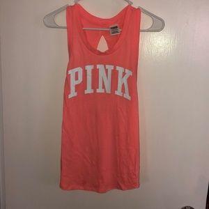 Pink open back tank